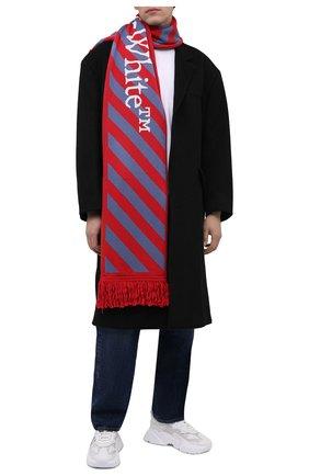 Мужской шарф OFF-WHITE красного цвета, арт. 0MMA001F21KNI002   Фото 2 (Материал: Текстиль, Синтетический материал; Кросс-КТ: другое)