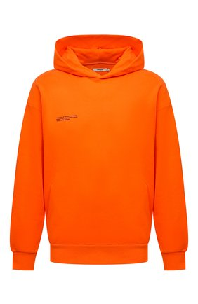 Мужского хлопковое худи PANGAIA оранжевого цвета, арт. 21FHU11-013-FEM002 | Фото 1 (Стили: Спорт-шик)