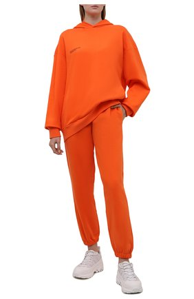 Мужского хлопковое худи PANGAIA оранжевого цвета, арт. 21FHU11-013-FEM002 | Фото 2 (Стили: Спорт-шик)