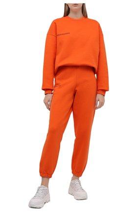 Мужского хлопковые джоггеры PANGAIA оранжевого цвета, арт. 20FPU01-013-FE0R02 | Фото 2 (Стили: Спорт-шик; Кросс-КТ: Трикотаж)