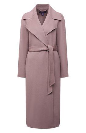 Женское кашемировое пальто RALPH LAUREN розового цвета, арт. 290698389 | Фото 1 (Материал внешний: Кашемир, Шерсть; 1-2-бортные: Однобортные; Стили: Кэжуэл; Рукава: Длинные; Длина (верхняя одежда): Длинные)