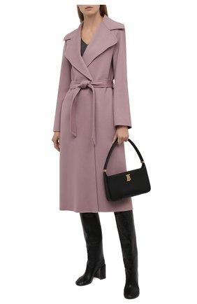 Женское кашемировое пальто RALPH LAUREN розового цвета, арт. 290698389 | Фото 2 (Материал внешний: Кашемир, Шерсть; 1-2-бортные: Однобортные; Стили: Кэжуэл; Рукава: Длинные; Длина (верхняя одежда): Длинные)