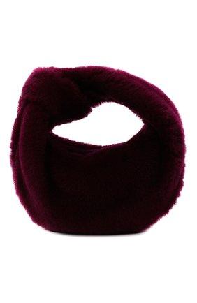 Женская сумка jodie mini BOTTEGA VENETA фиолетового цвета, арт. 680697/V1C20 | Фото 1 (Размер: mini; Материал: Натуральный мех; Женское Кросс-КТ: Вечерняя сумка; Сумки-технические: Сумки top-handle)