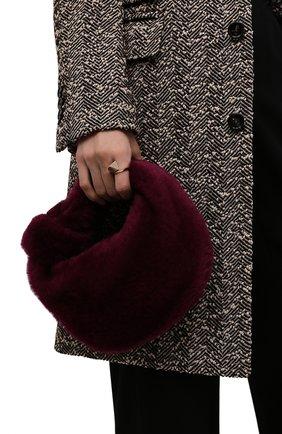 Женская сумка jodie mini BOTTEGA VENETA фиолетового цвета, арт. 680697/V1C20 | Фото 2 (Размер: mini; Материал: Натуральный мех; Женское Кросс-КТ: Вечерняя сумка; Сумки-технические: Сумки top-handle)