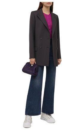 Женские комбинированные ботинки JW ANDERSON кремвого цвета, арт. ANW37000A/14050 | Фото 2 (Подошва: Платформа; Материал внутренний: Текстиль; Каблук высота: Средний; Материал внешний: Текстиль, Экокожа; Женское Кросс-КТ: Хайкеры-ботинки)