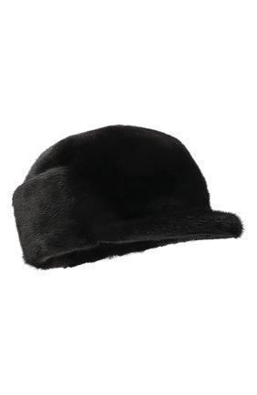 Мужская норковая кепка KUSSENKOVV черного цвета, арт. 412800002120 | Фото 1 (Материал: Натуральный мех)