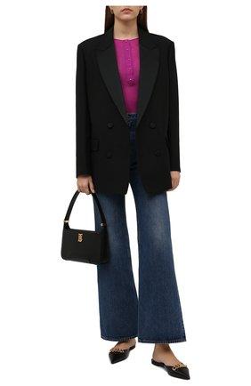 Женские кожаные сабо TOM FORD черного цвета, арт. W2998T-LSP002 | Фото 2 (Материал внутренний: Натуральная кожа; Подошва: Плоская; Каблук высота: Низкий)