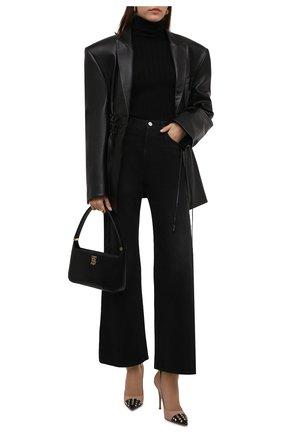 Женские кожаные туфли rockstud alcove VALENTINO бежевого цвета, арт. WW0S0DE5/YGD | Фото 2 (Подошва: Плоская; Каблук высота: Высокий; Материал внутренний: Натуральная кожа; Каблук тип: Шпилька)