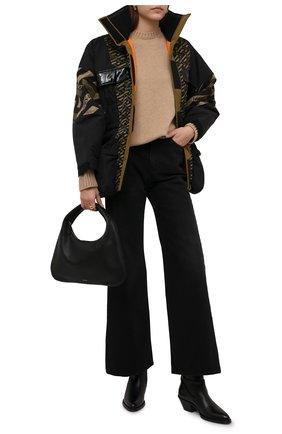 Женский утепленная куртка VERSACE хаки цвета, арт. 1001682/1A01411   Фото 2 (Материал внешний: Синтетический материал; Длина (верхняя одежда): Короткие; Материал подклада: Синтетический материал; Рукава: Длинные; Кросс-КТ: Куртка, Пуховик; Стили: Спорт-шик)