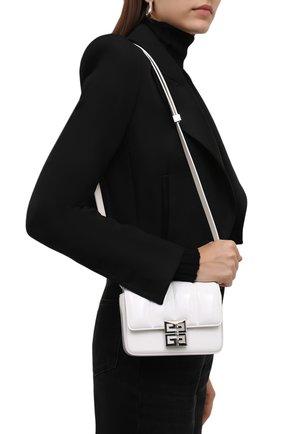 Женская сумка 4g small GIVENCHY белого цвета, арт. BB50KBB16S   Фото 2 (Материал: Натуральная кожа; Размер: small; Сумки-технические: Сумки через плечо)