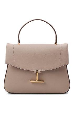 Женская сумка tara TOM FORD бежевого цвета, арт. L1447T-LCL208   Фото 1 (Размер: medium; Ремень/цепочка: На ремешке; Материал: Натуральная кожа; Сумки-технические: Сумки top-handle, Сумки через плечо)