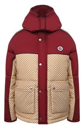 Женская утепленная куртка GUCCI красного цвета, арт. 663279/ZAHB8 | Фото 1 (Рукава: Длинные; Материал внешний: Синтетический материал; Материал подклада: Синтетический материал; Длина (верхняя одежда): Короткие; Кросс-КТ: Куртка; Стили: Спорт-шик)