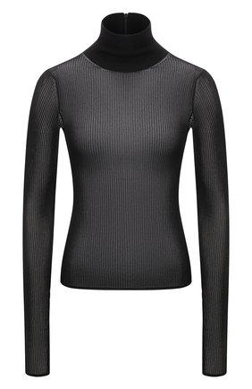 Женская водолазка из вискозы DOLCE & GABBANA черного цвета, арт. FXE79T/JAIEI | Фото 1 (Материал внешний: Вискоза; Длина (для топов): Стандартные; Рукава: Длинные; Женское Кросс-КТ: Водолазка-одежда; Стили: Кэжуэл)