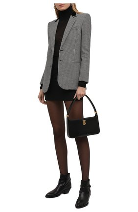Женская водолазка из вискозы DOLCE & GABBANA черного цвета, арт. FXE79T/JAIEI | Фото 2 (Материал внешний: Вискоза; Длина (для топов): Стандартные; Рукава: Длинные; Женское Кросс-КТ: Водолазка-одежда; Стили: Кэжуэл)