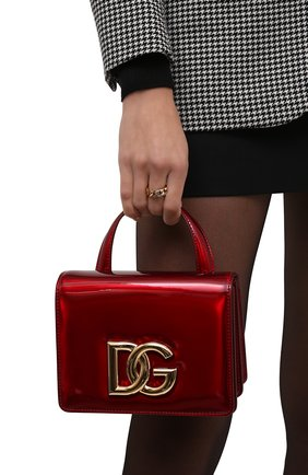 Женская сумка dg millennials DOLCE & GABBANA красного цвета, арт. BB7078/AQ495 | Фото 2 (Размер: mini; Ремень/цепочка: На ремешке; Материал: Натуральная кожа; Сумки-технические: Сумки top-handle, Сумки через плечо)