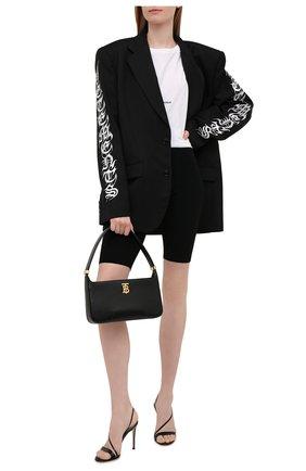 Женские шерстяные шорты MRZ черного цвета, арт. FW21-0034   Фото 2 (Материал внешний: Шерсть; Женское Кросс-КТ: Шорты-одежда; Стили: Спорт-шик; Длина Ж (юбки, платья, шорты): Мини)