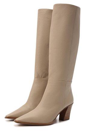 Женские кожаные сапоги matisse 70 AQUAZZURA бежевого цвета, арт. MSEMIDB0-SCA-SFB   Фото 1 (Материал внутренний: Натуральная кожа; Каблук высота: Средний; Подошва: Плоская; Высота голенища: Средние; Каблук тип: Устойчивый)