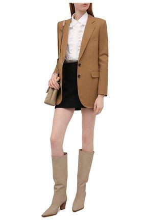 Женские кожаные сапоги matisse 70 AQUAZZURA бежевого цвета, арт. MSEMIDB0-SCA-SFB   Фото 2 (Материал внутренний: Натуральная кожа; Каблук высота: Средний; Подошва: Плоская; Высота голенища: Средние; Каблук тип: Устойчивый)