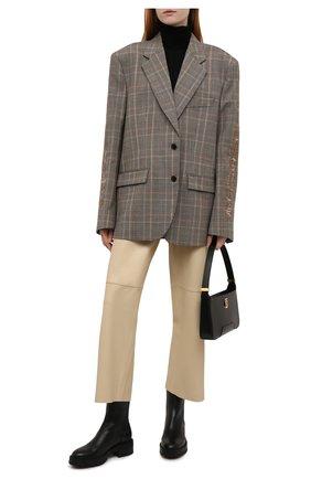Женские кожаные ботинки saint honore AQUAZZURA черного цвета, арт. SBCFLAB0-SCA-000 | Фото 2 (Материал внутренний: Натуральная кожа; Подошва: Платформа; Каблук высота: Низкий; Женское Кросс-КТ: Военные ботинки)