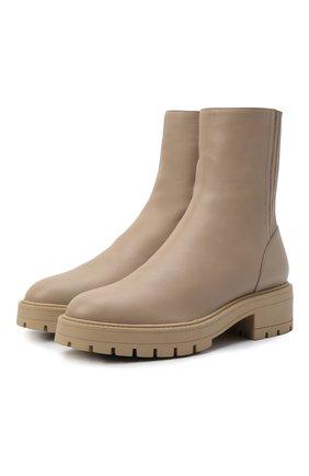 Женские кожаные ботинки saint honore AQUAZZURA бежевого цвета, арт. SBCFLAB0-SCA-SFB | Фото 1 (Подошва: Платформа; Материал внутренний: Натуральная кожа; Каблук высота: Низкий; Женское Кросс-КТ: Военные ботинки)