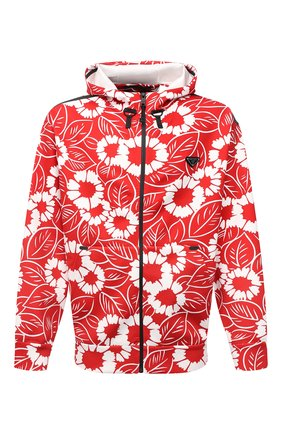Мужская куртка PRADA LINEA ROSSA красного цвета, арт. SJC590-10QJ-F0976-212   Фото 1 (Материал внешний: Синтетический материал; Кросс-КТ: Куртка, Ветровка, другое; Стили: Спорт-шик; Длина (верхняя одежда): Короткие)