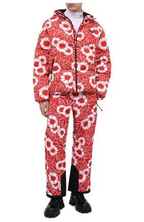 Мужские утепленные брюки PRADA LINEA ROSSA красного цвета, арт. SPH199-10QT-F0976-212   Фото 2 (Материал внешний: Синтетический материал; Кросс-КТ: другое; Стили: Спорт-шик)