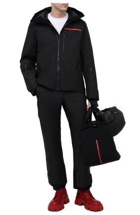 Мужские кожаные ботинки monolith PRADA LINEA ROSSA красного цвета, арт. 2UE007-3LFR-F0D56-D002   Фото 2 (Мужское Кросс-КТ: Ботинки-обувь)