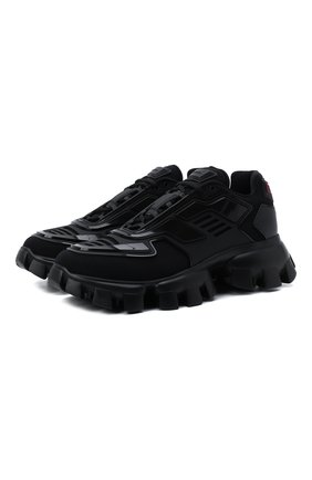 Мужские кроссовки cloudbust thunder PRADA LINEA ROSSA черного цвета, арт. 2EG293-3KZU-F0002 | Фото 1 (Материал внешний: Текстиль; Стили: Гранж)