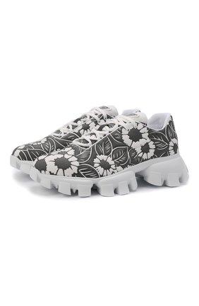 Мужские кроссовки PRADA LINEA ROSSA серого цвета, арт. 2EG404-3LKO-F0967 | Фото 1 (Материал внешний: Текстиль; Стили: Гранж)