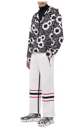 Мужские кроссовки PRADA LINEA ROSSA серого цвета, арт. 2EG404-3LKO-F0967 | Фото 2 (Материал внешний: Текстиль; Стили: Гранж)