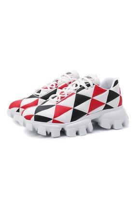 Мужские кроссовки PRADA LINEA ROSSA разноцветного цвета, арт. 2EG404-3LKR-F0X5N | Фото 1 (Материал внешний: Текстиль; Стили: Гранж)
