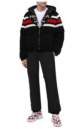 Мужские кроссовки PRADA LINEA ROSSA разноцветного цвета, арт. 2EG404-3LKR-F0X5N | Фото 2 (Материал внешний: Текстиль; Стили: Гранж)
