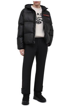 Мужские утепленные сапоги PRADA LINEA ROSSA черного цвета, арт. 2UE024-3LFV-F0002 | Фото 2 (Материал внешний: Текстиль; Мужское Кросс-КТ: Сапоги-обувь, зимние сапоги)