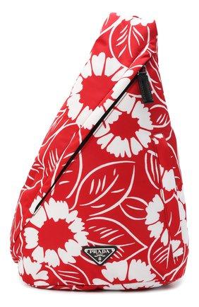 Мужской текстильный рюкзак PRADA LINEA ROSSA красного цвета, арт. 2VZ092-2D1V-F0976-OOO   Фото 1 (Материал: Текстиль)