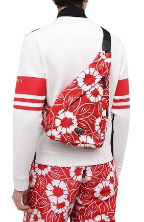 Мужской текстильный рюкзак PRADA LINEA ROSSA красного цвета, арт. 2VZ092-2D1V-F0976-OOO   Фото 2 (Материал: Текстиль)