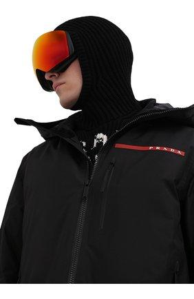 Мужского горнолыжная маска PRADA LINEA ROSSA оранжевого цвета, арт. SPS07V-E584-FE744 | Фото 2 (Материал: Пластик)