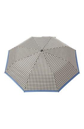Женский складной зонт DOPPLER черно-белого цвета, арт. 7441465EL02   Фото 1 (Материал: Синтетический материал, Текстиль)