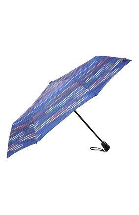 Женский складной зонт DOPPLER синего цвета, арт. 7441465DS02   Фото 2 (Материал: Синтетический материал, Текстиль)
