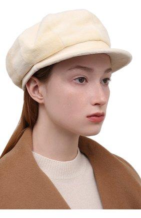 Женская кепка из меха норки KUSSENKOVV разноцветного цвета, арт. 121210012425   Фото 2 (Материал: Натуральный мех)