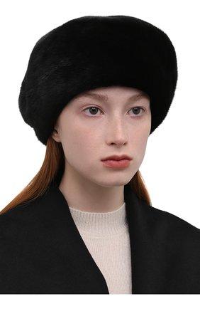 Женский берет из меха норки KUSSENKOVV разноцветного цвета, арт. 012800002123 | Фото 2 (Материал: Натуральный мех)