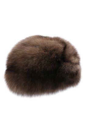 Женская шапка-чалма из меха соболя KUSSENKOVV разноцветного цвета, арт. 143600005271   Фото 1 (Материал: Натуральный мех)
