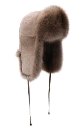 Женская шапка-ушанка из  меха норки KUSSENKOVV разноцветного цвета, арт. 091913694093   Фото 1 (Материал: Натуральный мех)