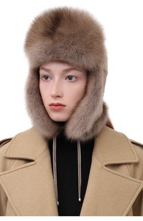 Женская шапка-ушанка из  меха норки KUSSENKOVV разноцветного цвета, арт. 091913694093   Фото 2 (Материал: Натуральный мех)