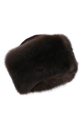 Женская шапка-кубанка из меха норки и соболя KUSSENKOVV разноцветного цвета, арт. 060213583455 | Фото 1 (Материал: Натуральный мех)