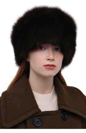 Женская шапка-кубанка из меха норки и соболя KUSSENKOVV разноцветного цвета, арт. 060213583455 | Фото 2 (Материал: Натуральный мех)