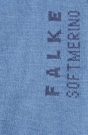 Женские носки softmerino FALKE синего цвета, арт. 47488   Фото 2 (Материал внешний: Шерсть)