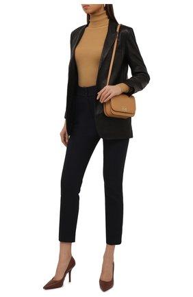 Женские хлопковые брюки LORO PIANA темно-синего цвета, арт. FAL8821 | Фото 2 (Материал внешний: Хлопок; Женское Кросс-КТ: Брюки-одежда; Силуэт Ж (брюки и джинсы): Узкие; Стили: Кэжуэл; Длина (брюки, джинсы): Стандартные)
