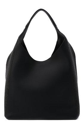 Женский сумка-шопер melton cash LORO PIANA темно-серого цвета, арт. FAL7123 | Фото 1 (Материал: Текстиль; Размер: large; Сумки-технические: Сумки-шопперы)