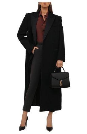 Женские хлопковые брюки LORO PIANA темно-серого цвета, арт. FAL4255 | Фото 2 (Материал внешний: Хлопок; Женское Кросс-КТ: Брюки-одежда; Силуэт Ж (брюки и джинсы): Узкие; Стили: Кэжуэл)