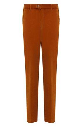 Мужские хлопковые брюки HILTL оранжевого цвета, арт. PARMA/74818/60-70 | Фото 1 (Материал внешний: Хлопок; Длина (брюки, джинсы): Стандартные; Случай: Повседневный; Стили: Кэжуэл; Силуэт М (брюки): Чиносы; Big sizes: Big Sizes)